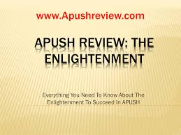 apush review the enlightenment
