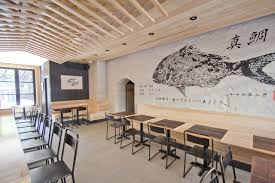 newest restaurant from ganso features shou sugi ban charred wood