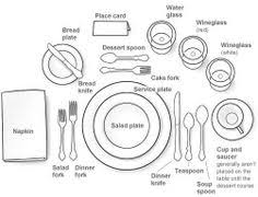how to set a table i may be classy enough to need this someday