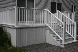 longevity white metal deck railing black aluminum balusters with