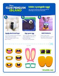 make your own penguin easter egg club penguin island