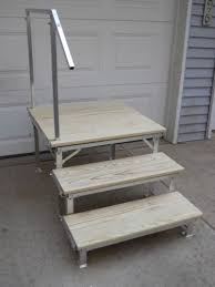portable rv deck with steps and railings railings rv and decking