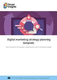 digital marketing plan example smart insights