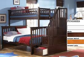 Staircase Bunk Beds Twin Over Full by Save Big On Columbia Twin Over Full Staircase Bunk Bed