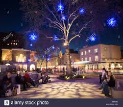 christmas lights in the kings road chelsea london uk stock photo