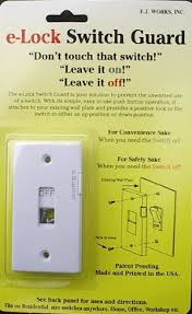 light switch lock guard amazon com e lock light switch guard for locking switches on