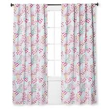 Pink And Green Curtains Nursery by Twill Light Blocking Floral Print Curtain Panel Apricot Ice 42