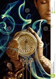 beutiful with a clock royalty free stock image image 10362556