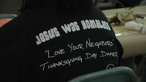 hundreds meal at jesus was homeless thanksgiving dinner
