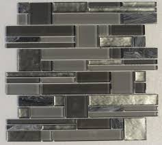 interlocking metallic moonlight glass u0026 stone mosaic backsplash
