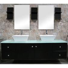 Bathroom Vanity For Vessel Sink Design Element Contemporary Double Sink Bathroom Vanity With