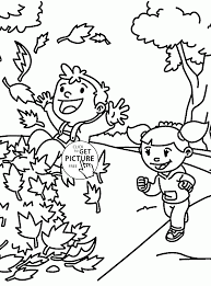 fall fun coloring pages kids fall leaves printables free