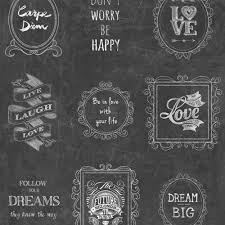 muriva happy life frames wallpaper black white 601527
