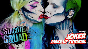 joker squad pop art make up tutorial halloween 2016