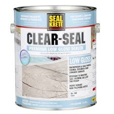 seal krete 1 gal clear seal low gloss sealer 365001 the home depot