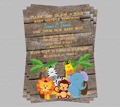 popular items for jungle baby shower on etsy invites zoo animal