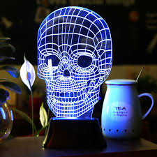 3d illusion led skull lamp free shipping gadgets pinterest