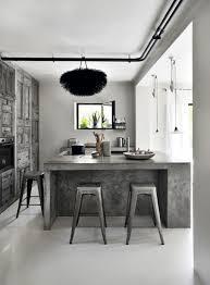 home grey white kitchen decor with grey marble kitchen island