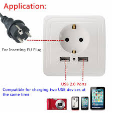 ls with usb outlets leory eu panel wall outlet 2a wall charger adapter eu plug socket