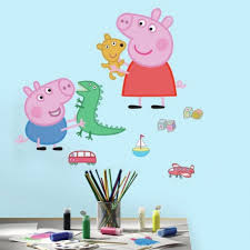 peppa pig wall decals peppa pig wall stickers roommates