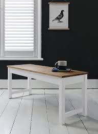 white table with bench annika dining table and 4 chairs and bench in white and natural pine