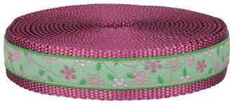 buy 1 inch fresh spring floral ribbon on rose nylon webbing
