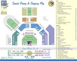The Villages Florida Map by Seaside Dining And Shopping Map Discover 30a Florida