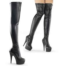s thigh boots uk pleaser delight 3000 platform thigh high boot size zip s
