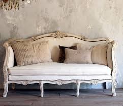vintage shabby french style louis xv daybed sofa cream upholstered