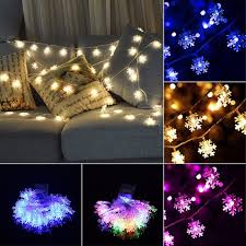 20 led 2 5m snowflakes string light wedding garden