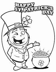 St Patrick S Day Leprechaun Free Printable Coloring Pages Day Printable Coloring Pages