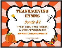 thanksgiving hymns 3 easy chimes bells arrangements bundle 2