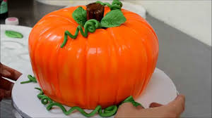 Halloween Decorations For Cakes by Decorating A Pumpkin Cake For Halloween Youtube