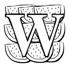 w for watermelon fruit coloring pages fruits coloring pages of