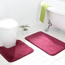 Bathroom Contour Rugs Ukeler Microfiber Non Skid Bathroom Contour Rugs Set