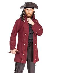 captain pirate coat men halloween costume
