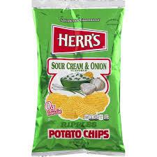 ripple chips herr s sour ripple potato chips 2 875 oz bag 6