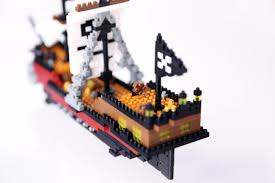 nanoblock nan nbm011 pirate ship amazon co uk toys u0026 games