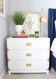 carlyle campaign dresser in white and styled project by spray small harper campaign dresser painted glossy white and designed as a bedroom nightstand