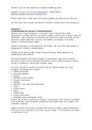 grade 10lesson plan creating a character stanislavski