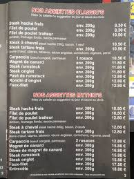 en cuisine brive menu la carte photo de snack beef brive la gaillarde tripadvisor