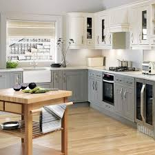Gray And White Kitchen Cabinets White Windsor L Shaped Kitchen Finished In Deep Charcoal And