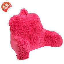 Bed Rest Pillow With Arms Brentwood Shagalicious Bedrest Pink Ebay