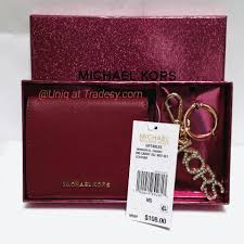 chagne gift set michael kors cherry and gold tone hardware mk boxed