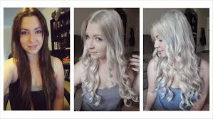 putting silver on brown hair how i bleached my hair dark brown to light ash blonde youtube