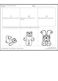 betsy bear sequence of 3 worksheet