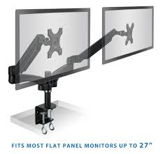 amazon com mount it dual monitor desk mount arm stand height