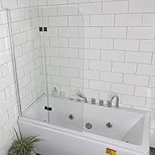 dreamline aqua uno 34 in width frameless hinged tub door 1 4