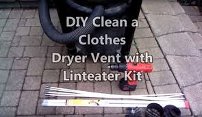 How To Clean A Clothes Dryer Diy Clean A Clothes Dryer Vent With Linteater Kit