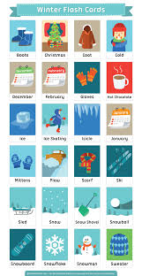 free printable winter flash cards download them in pdf format at